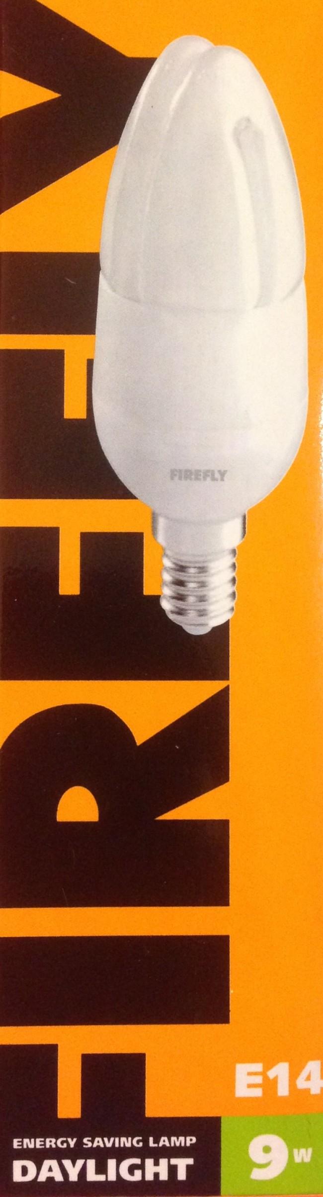Λάμπα Οικονομίας Κεράκι FIREFLY 9W Ε14 Ψυχρό Λευκό 6400k CFL CDL-9D 7b287a8db46