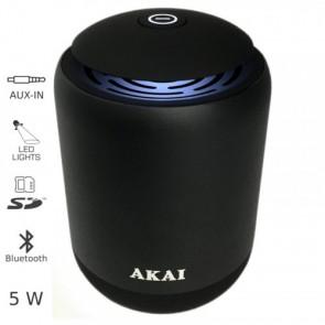 AKAI ABTS-S4 Μεταλλικό Ηχείο Bluetooth με LED, USB, SD και AUX – 5W