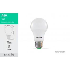 ΛΑΜΠΑ LED A60 E27 6W 3000K 470LM (LAWE276S)