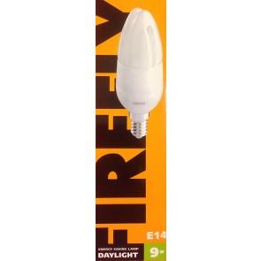 Λάμπα Οικονομίας Κεράκι  FIREFLY 9W Ε14  Θερμό Λευκό CFL CDL-9W