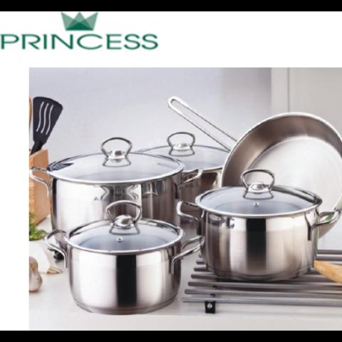 Princess Inox Σετ Μαγειρικών Σκευών Corina 9 Τμχ