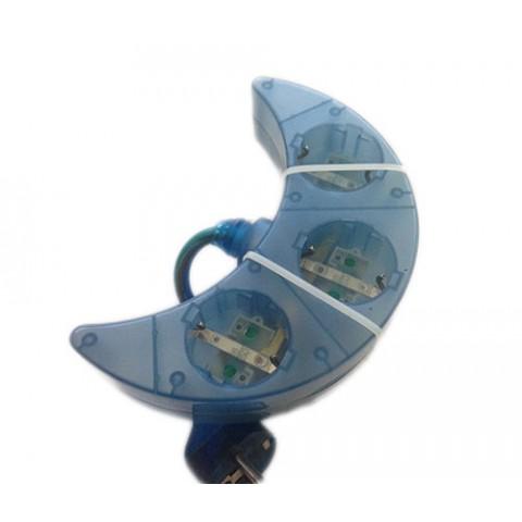 Πολύπριζο Φεγγάρι 3 θέσεων Satiplugs Μπλε